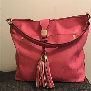 Kate Laundry pink leather purse